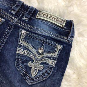 Rock Revival Effie Bootcut Jeans Distressed